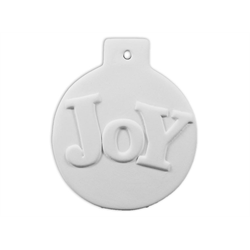 SEASONAL Flat Ball Joy Ornament/12 SPO