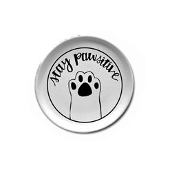 PLATES Stay Pawsitive Plate/6 SPO