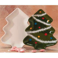 SEASONAL CHRISTMAS TREE PLATE/12  SPO