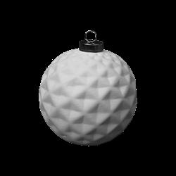 SEASONAL Faceted Silver Cap Ball Ornament/8 SPO