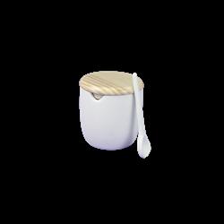 KITCHEN Fortune Salt Cellar w/Spoon/4 SPO