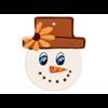 SEASONAL Snowman Face 3 Ornament/12 SPO
