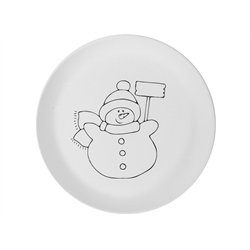 PLATES Hand Detailed Snowman Party Plate/6 SPO