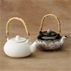 KITCHEN TEAPOT W/BAMBOO HANDLE/6 SPO