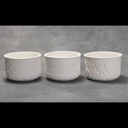 HOME DÉCOR Textured Planters (2 Each of 3 Designs)/6 SPO