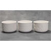 HOME DÉCOR Textured Planters (2 Each of 3 Designs)/6 SPO