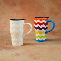 MUGS CHEVRON TRAVEL MUG/8 SPO