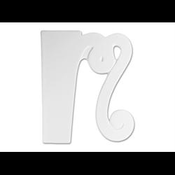 """TILES & PLAQUES 8"""" Curvy Letter M /1 SPO"""