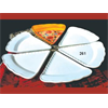 PLATES Pizza Slice Dish/6 SPO