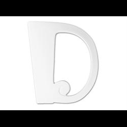 """TILES & PLAQUES 8"""" Curvy Letter D /1 SPO"""