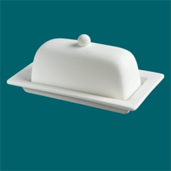 KITCHEN Rimmed Butter Dish/6