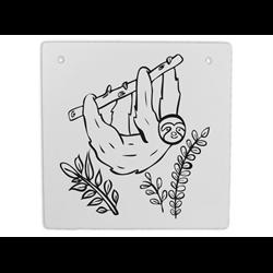 """TILES & PLAQUES Hanging Sloth Plaque  6""""/12 SPO"""