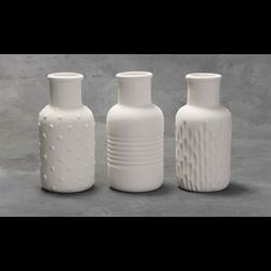 HOME DÉCOR Textured Bud Vases (2 Each of 3 Designs)/6 SPO