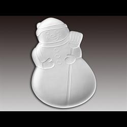 SEASONAL Snowman Dish/12 SPO