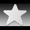 SEASONAL Flat Big Star Ornament/12 SPO