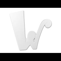 """TILES & PLAQUES 8"""" Curvy Letter W /1 SPO"""